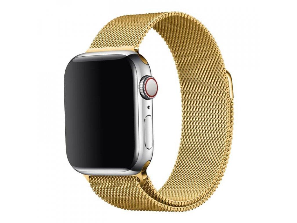 Ocelový milánský tah pro Apple Watch zlatý