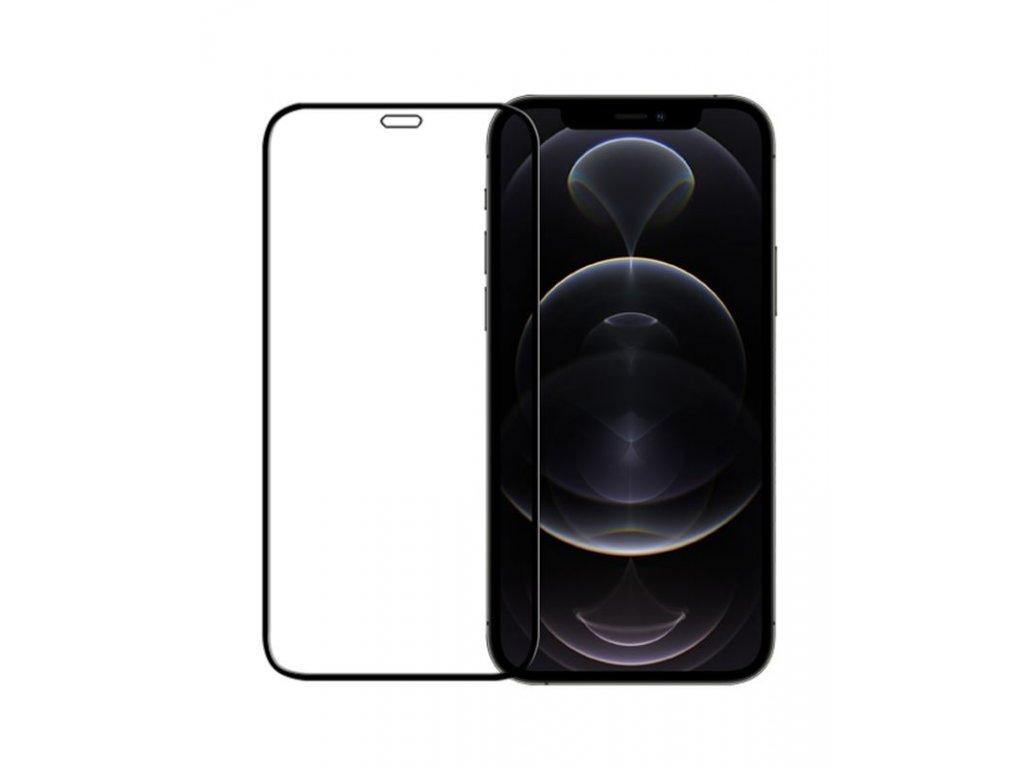 10D tvrzené sklo pro iPhone 12 Pro s vysokou tvrdostí a pokrytím celého displeje. Ochrání před poškrábáním iPhonu 12 Pra proti prasklinám.