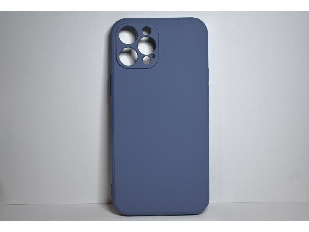 Modrý silikonový obal pro iPhone 12 Pro Max s ochranou čoček