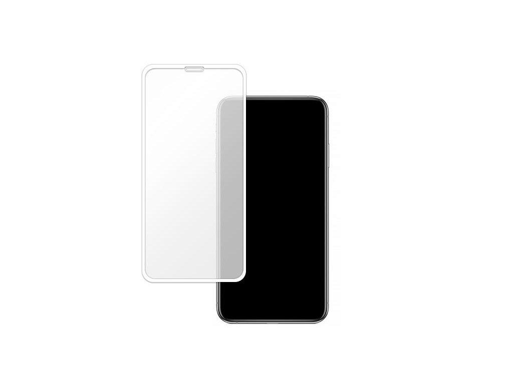 Bílé 10D tvrzené sklo pro iPhone 11 s vysokou tvrdostí a pokrytím celého displeje. Ochrání před poškrábáním iPhonu 11 a proti prasklinám.