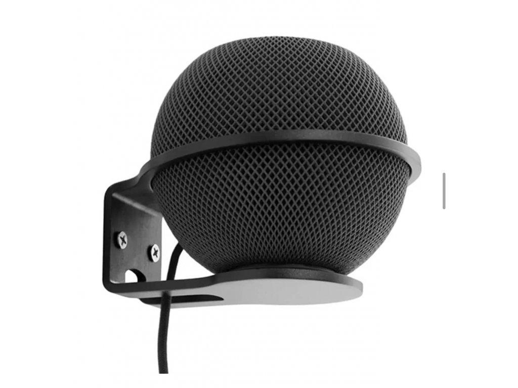 Černý hliníkový držák na HomePod mini