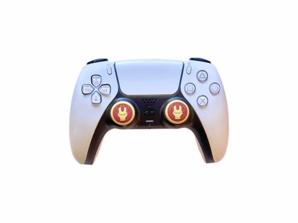 Iron Man návleky na páčky k PS5/PS4/PS3 (thumb grip caps) 2 ks