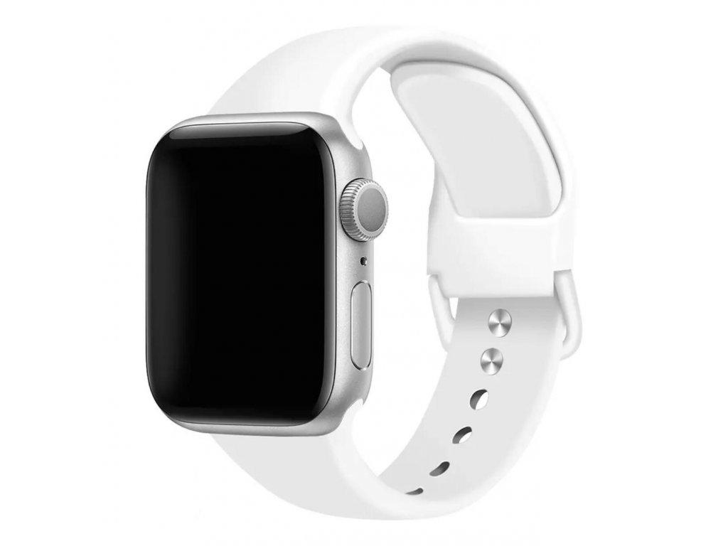 Bílý řemínek pro Apple Watch 38mm a 40mm silikonový