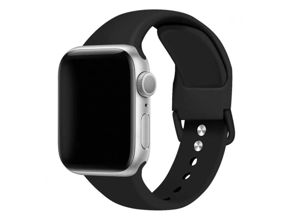 Pásek na Apple Watch silikonový černý