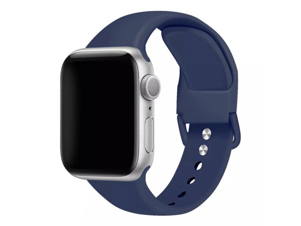 Apple Watch silikonový tmavě modrý pásek