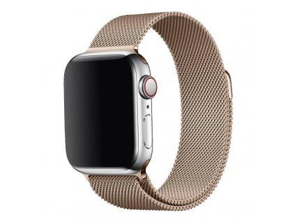 Ocelový milánský tah pro Apple Watch rosegold