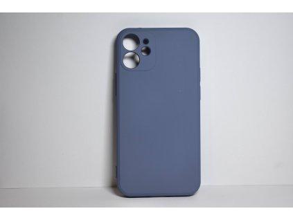 Modrý silikonový obal pro iPhone 12 s ochranou čoček