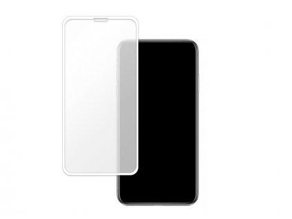 Bílé 10D tvrzené sklo pro iPhone 11 Pro Max s vysokou tvrdostí a pokrytím celého displeje. Ochrání před poškrábáním iPhonu 11 Pro Max a proti prasklinám.