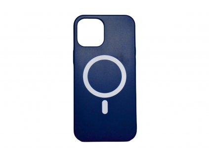 MagSafe obal tmavě modrý pro iPhone 12 a iPhone 12 Pro. Podporuje MagSafe magnetické nabíjení.