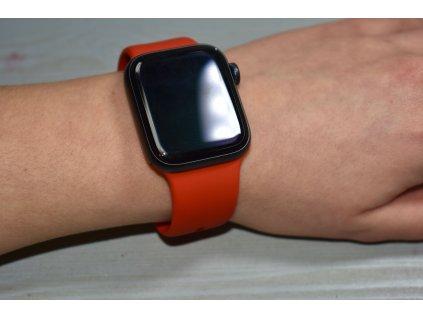 Červený silikonový řemínek pro Apple Watch 42mm a 44mm