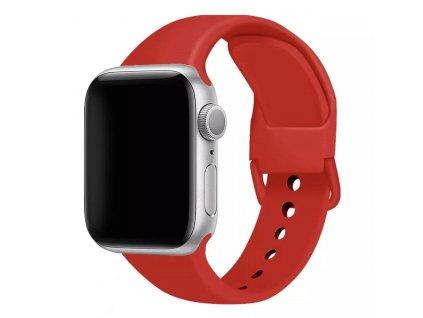 Apple Watch červený řemínek ze silikonu