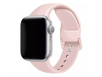 Růžový řemínek pro Apple Watch