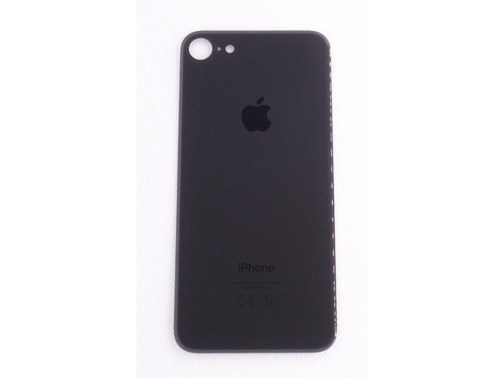 Náhradní zadní sklo Big Hole Black - iPhone 8