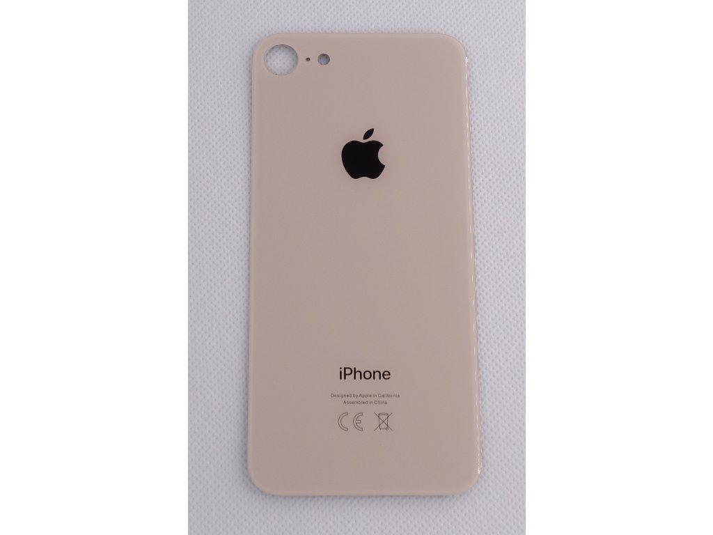 iPhone 8 - náhradní zadní sklo Big Hole Gold