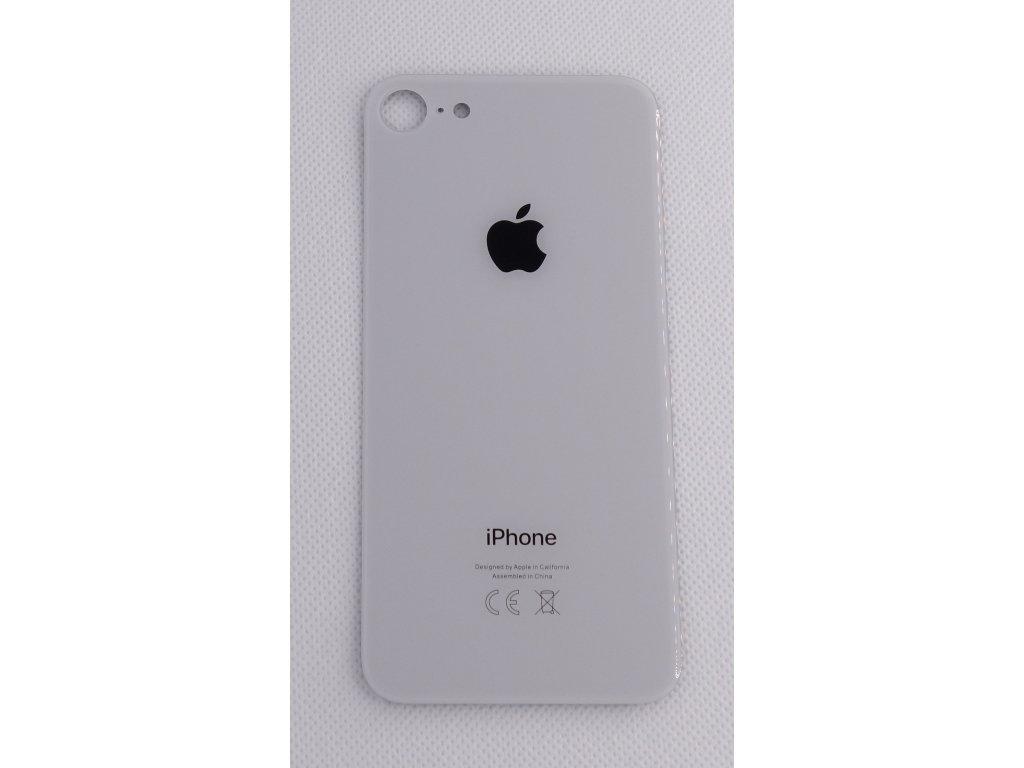 Náhradní zadní sklo Big Hole White - iPhone 8
