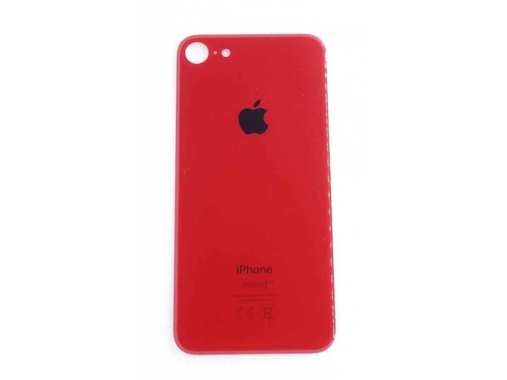 iPhone 8 - náhradní zadní sklo Big Hole Red
