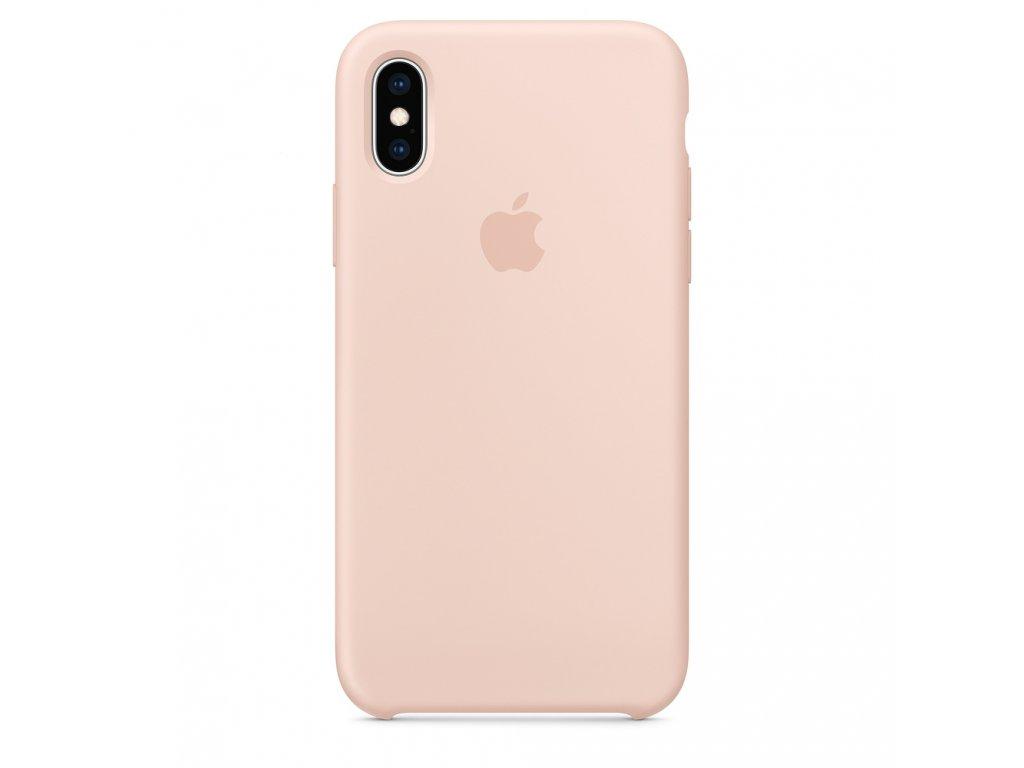 iPhone X/XS - Apple silikonový kryt Pink Sand