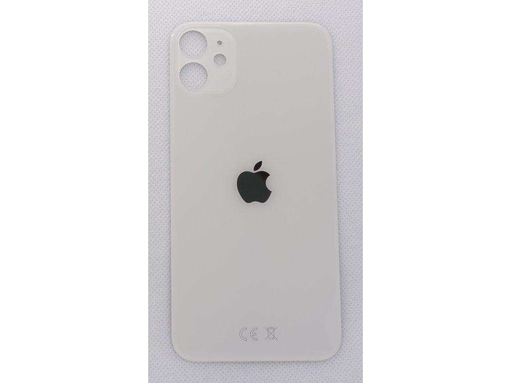 Náhradní zadní sklo Big Hole White - iPhone 11