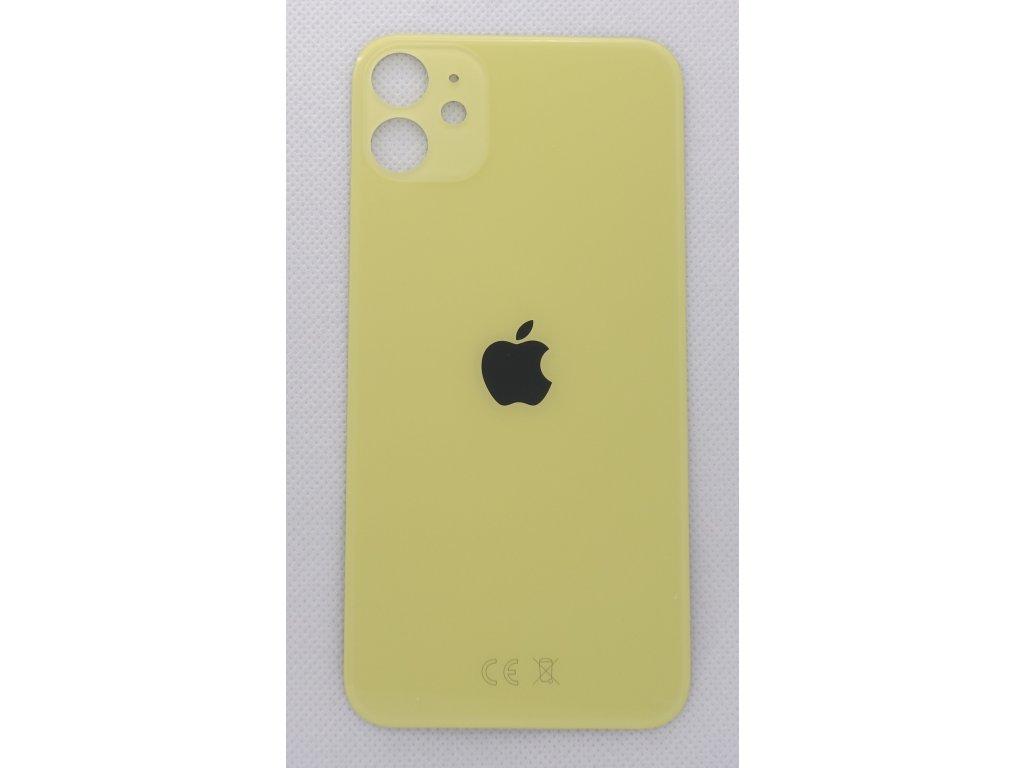 iPhone 11 - náhradní zadní sklo Big Hole Yellow