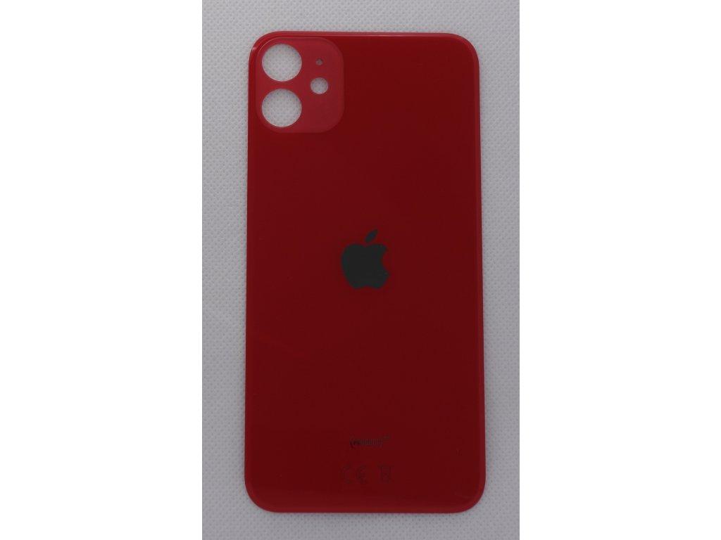 iPhone 11 - náhradní zadní sklo Big Hole Red
