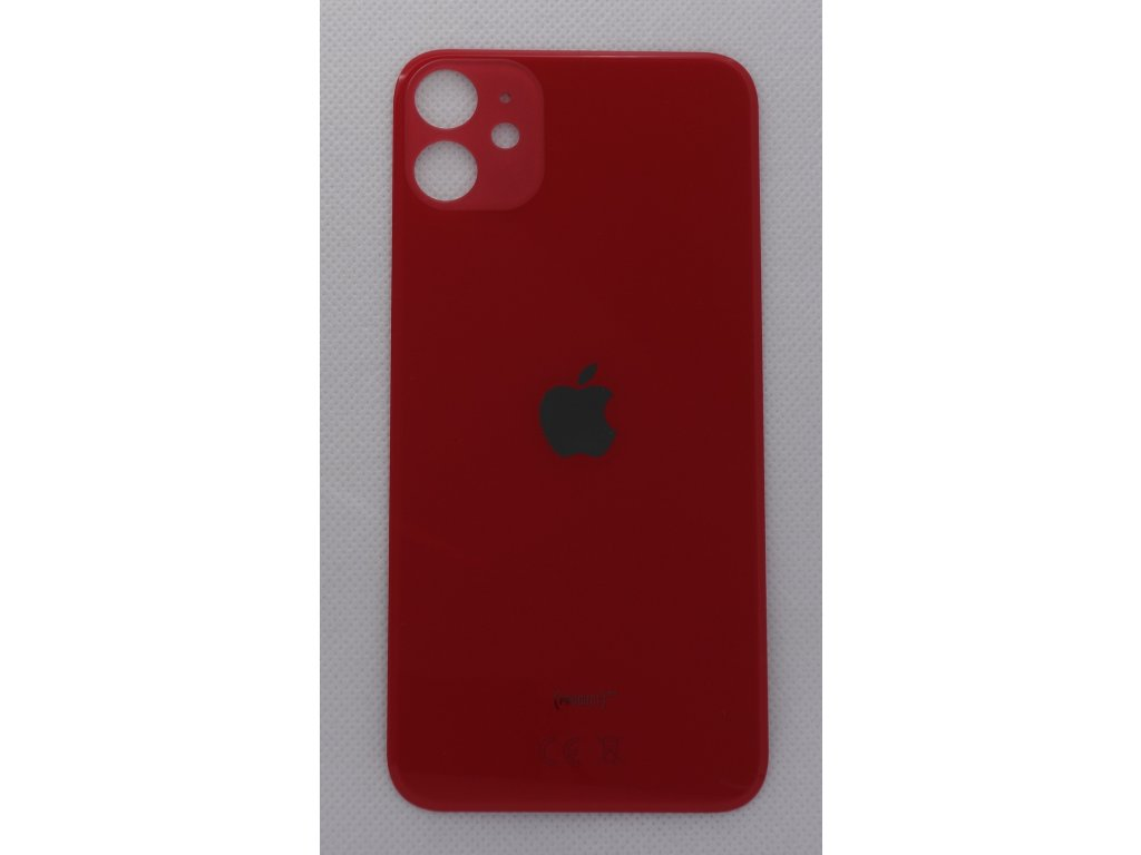 Náhradní zadní sklo Big Hole Red - iPhone 11