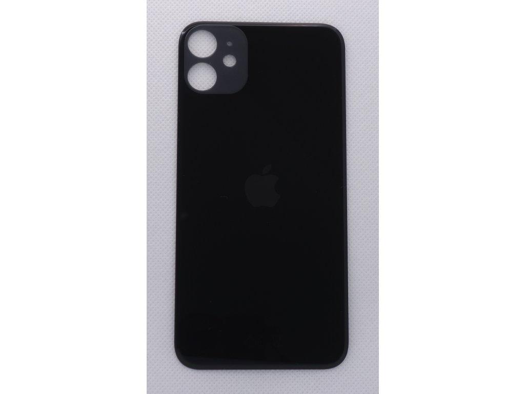 Náhradní zadní sklo Big Hole Black - iPhone 11