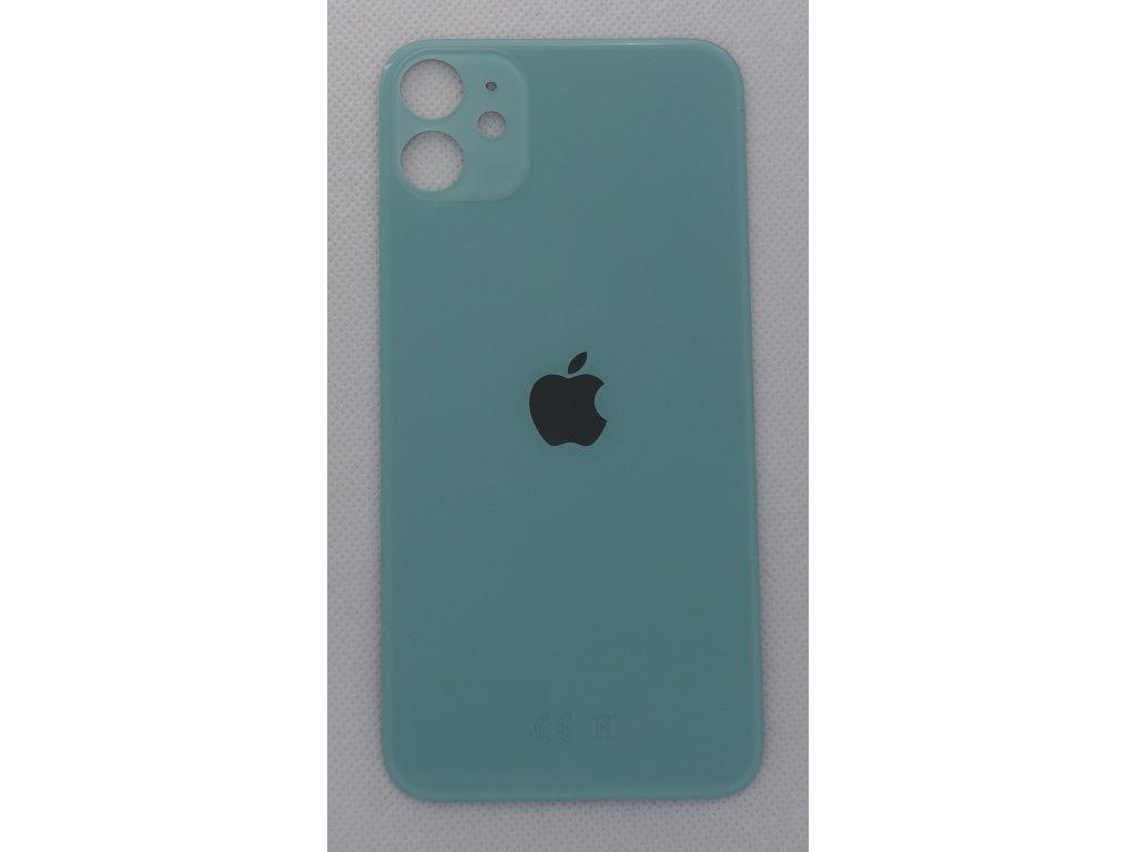 iPhone 11 - náhradní zadní sklo Big Hole Green
