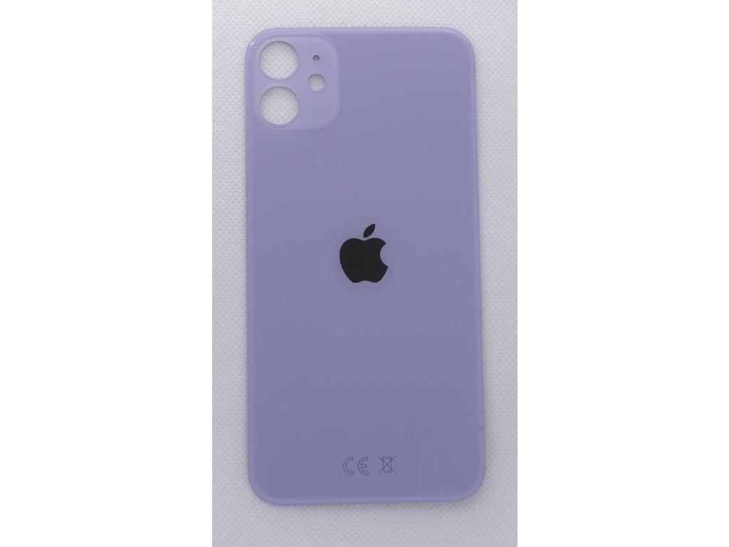 Náhradní zadní sklo Big Hole Purple - iPhone 11