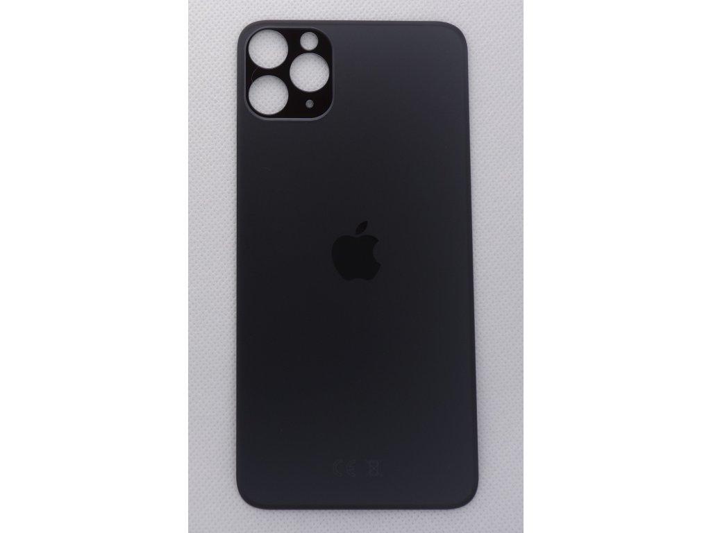 Náhradní zadní sklo Big Hole Space Grey - iPhone 11 Pro Max