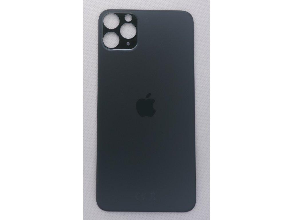 iPhone 11 Pro Max - náhradní zadní sklo Big Hole Midnight Green