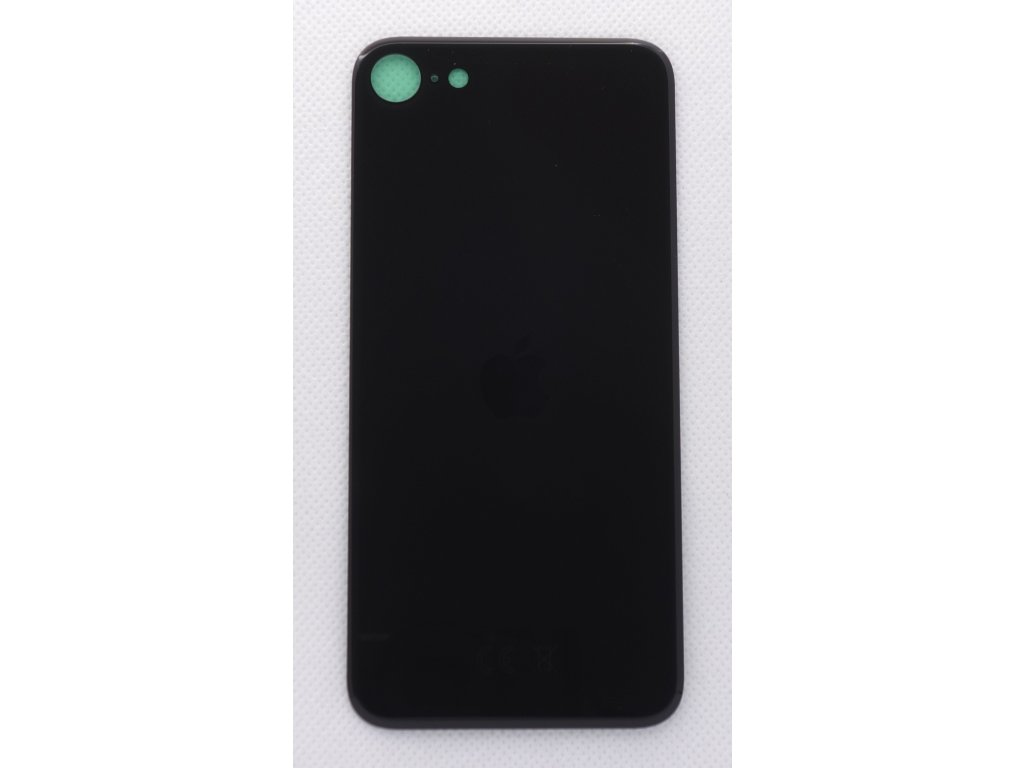 iPhone SE (2020) - náhradní zadní sklo Big Hole Black