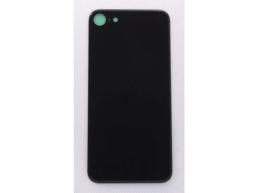 Náhradní zadní sklo Big Hole Black - iPhone SE 2020