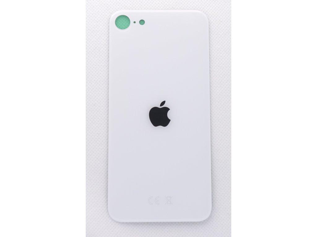 Náhradní zadní sklo Big Hole White - iPhone SE 2020