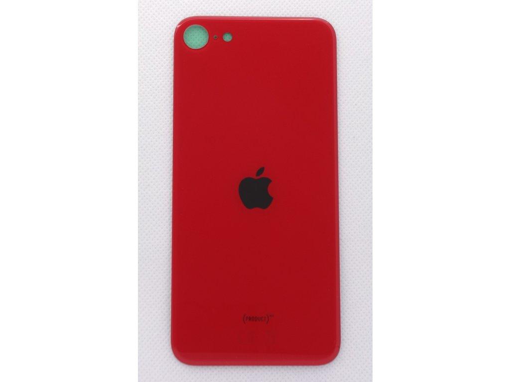 Náhradní zadní sklo Big Hole Red - iPhone SE 2020