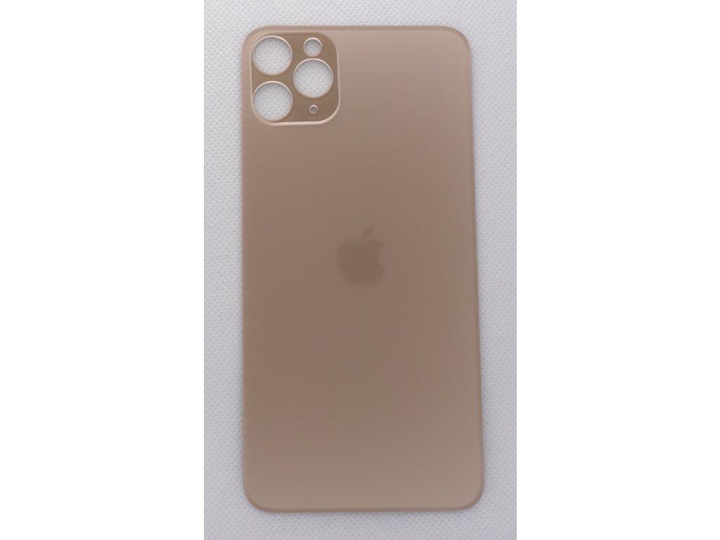 Náhradní zadní sklo Big Hole Gold - iPhone 11 Pro