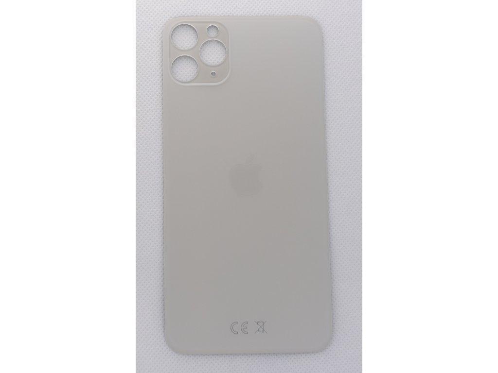 Náhradní zadní sklo Big Hole Silver - iPhone 11 Pro