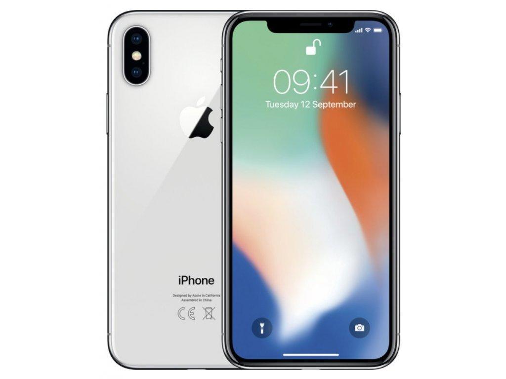 1055 apple iphone x 256gb silver