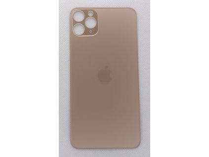 Náhradní zadní sklo Big Hole Gold - iPhone 11 Pro Max