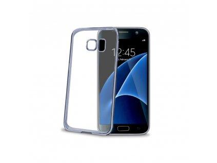 TPU pouzdro CELLY Laser - lemování s kovovým efektem pro Samsung Galaxy S7, černé