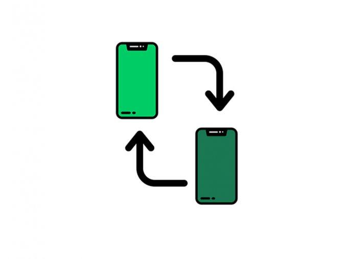 přenos dat mezi telefony