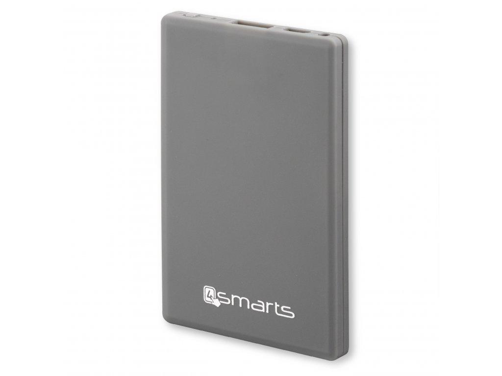 4smarts PowerBank ve velikosti Kreditní karty 1150mAh, šedá