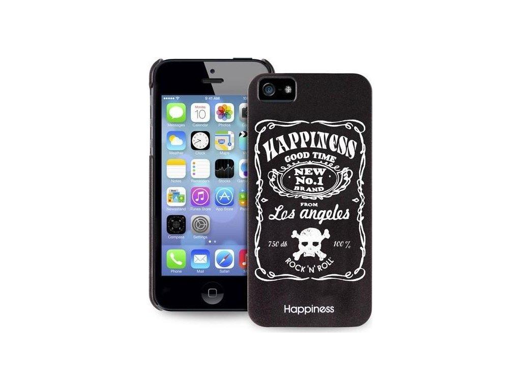 """Puro zadní kryt HAPPINESS pro iPhone 5/5S - bílý text """"GOOD TIME"""""""