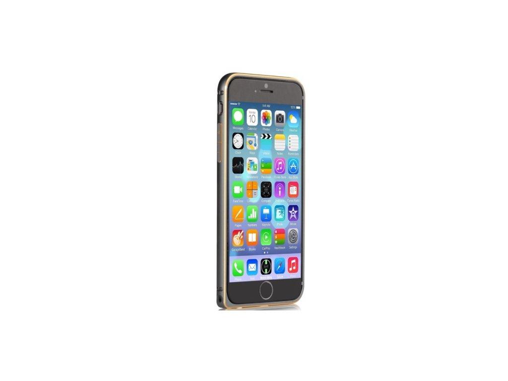 Hliníkový ochranný Bumper Devia Gun Black pro Apple iPhone 6/6S, černá
