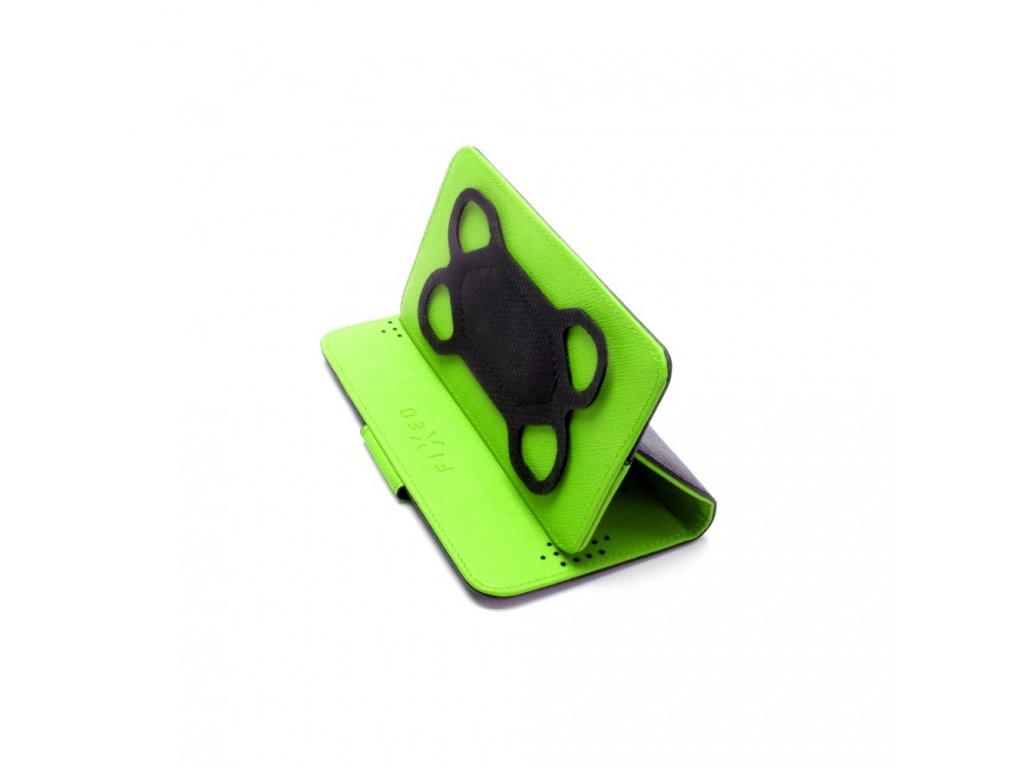 """Univerzální pouzdro se stojánkem FIXED twoFACE pro mobilní telefony  4,5-5"""", černo-zelená"""