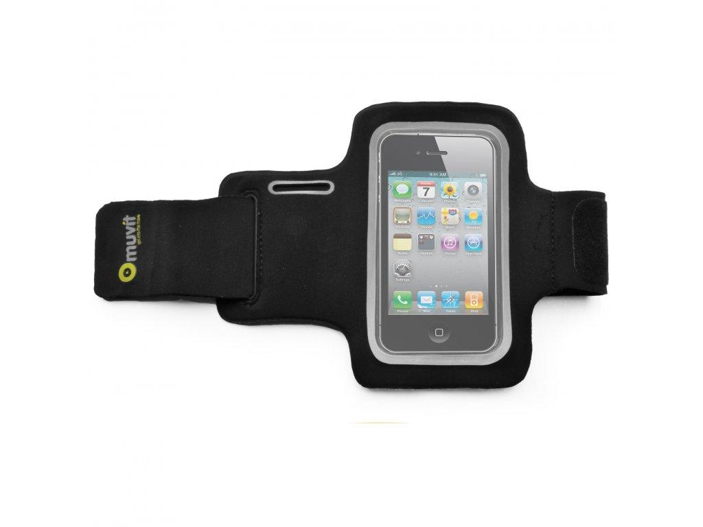 Sportovní neoprénové pouzdro MUVIT pro Apple iPhone 4/4S a podobné, černá