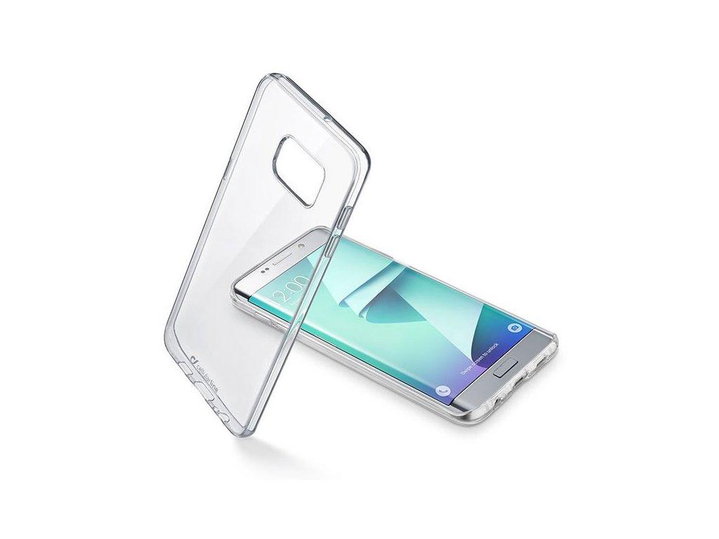 Zadní čirý kryt s ochranným rámečkem CellularLine CLEAR DUO pro Samsung Galaxy S7 Edge