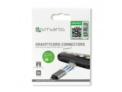 4smarts Magnetic Lightning & Micro USB Connector GRAVITYCord pack of two