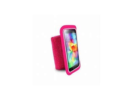 Pouzdro Puro ruku Running Wristband s kapsou zařízení do 5,1'' růžové