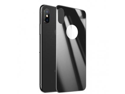 USAMS BH375 Tvrzené Sklo 0,33mm Zadní Kryt 3D Black / Černa pro iPhone X