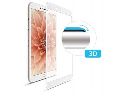 Ochranné tvrzené sklo FIXED 3D Full-Cover pro Sony Xperia XA (2017)/XA1, s lepením přes celý displej, bílé, 0.33 mm